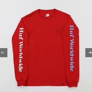 ✨SALE!✨HUF | Red Long Sleeve Top